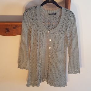 Peruvian Connection long sleeve cardigan. Small